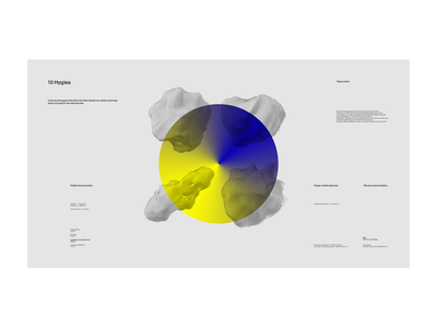 asteroid space grid typography design board stats graph app ux ui