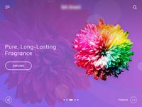 Fragrance - Homepage Design