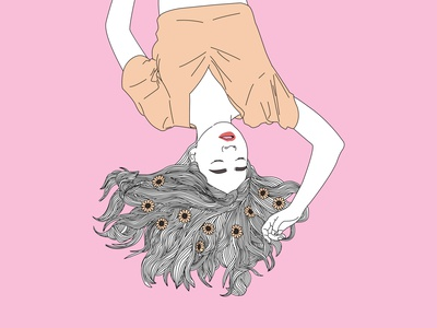 Let go of all the burden of the mind mind illustration design asbtract art