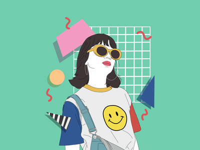 Pop and culture graphic design branding vector asbtract illustration design art