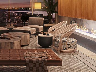 Interior Livingroom Rendring 3d view visualization 3d modeling interior cg rendering 3d