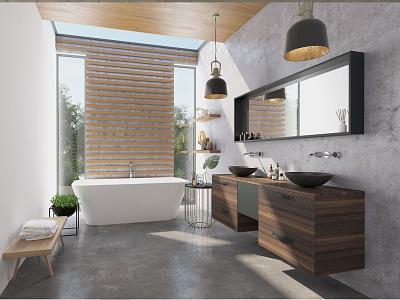 Bathroom interior design visualization cgi rendering interior 3d bathroom