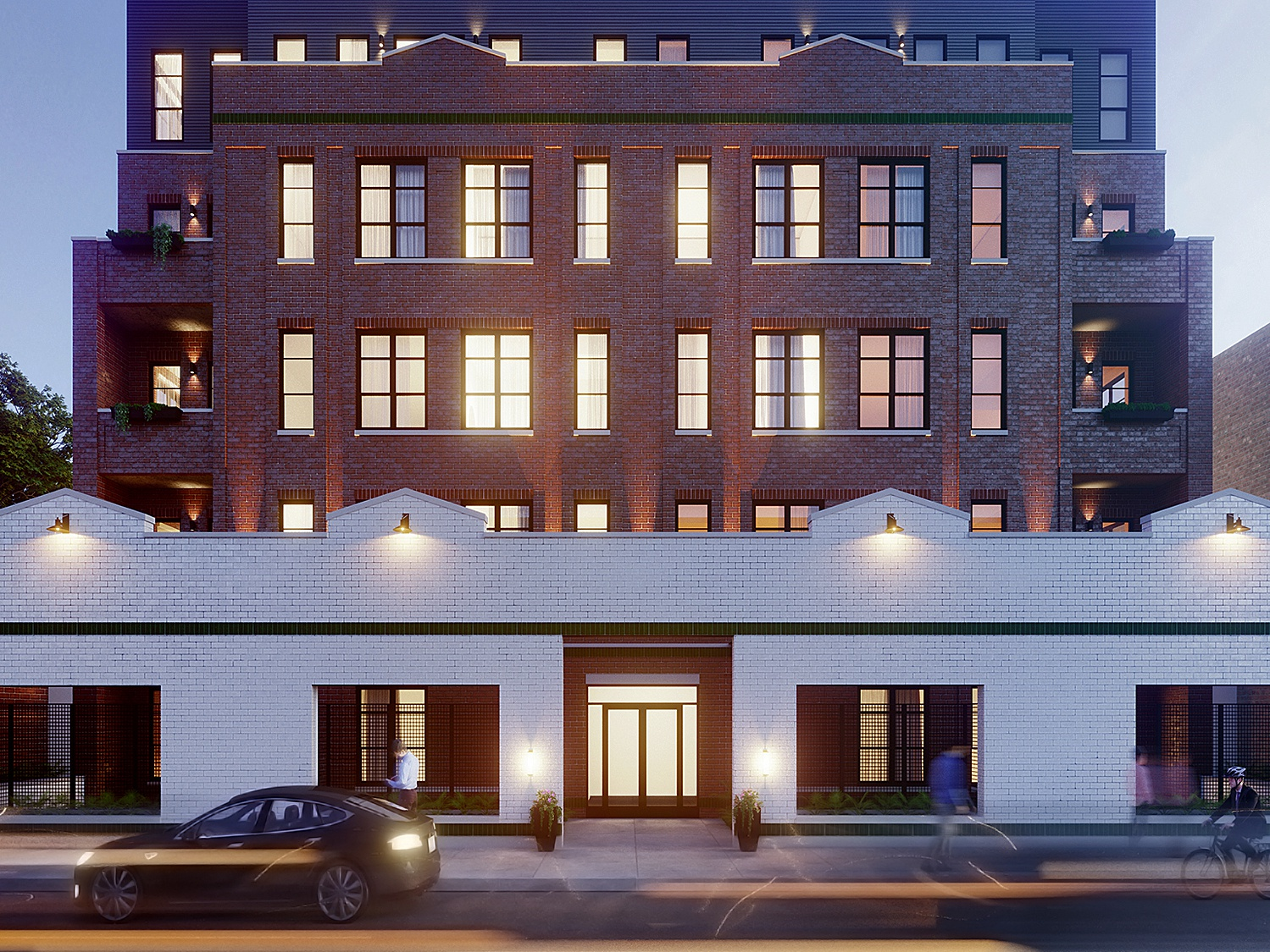 Architectural visualization of residence building in Chicago facade exterior design v-ray 3d modeling vray house cgi 3d view architecture cg illustration architectural visualization architectural 3dsmax visualization rendering 3d