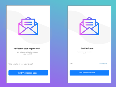 Email Verification App Design email app design