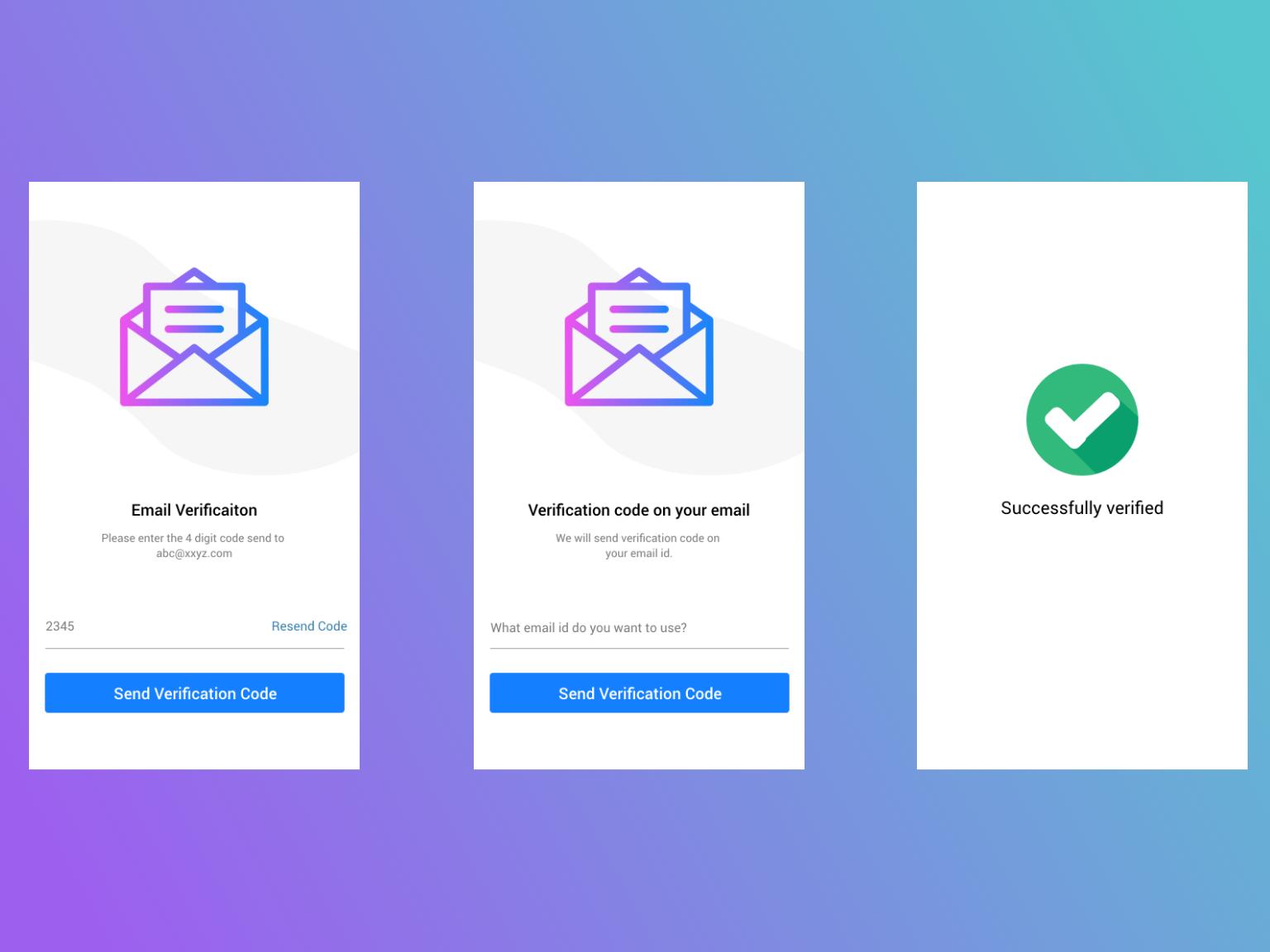 Email verification with success message by Jayakumar Janarthanan