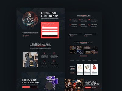 Music Store Landing Pages Design - Full Page