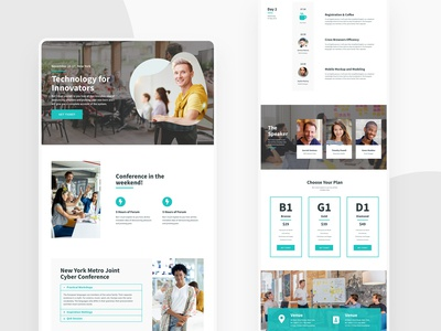 Event Homepage Web design - full page