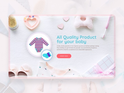 Baby Care Landing Page web desing - Header Section