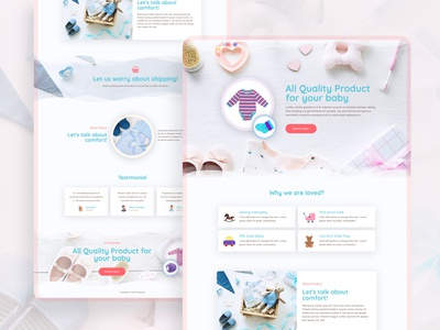Baby Care Landing Page web design - Full page