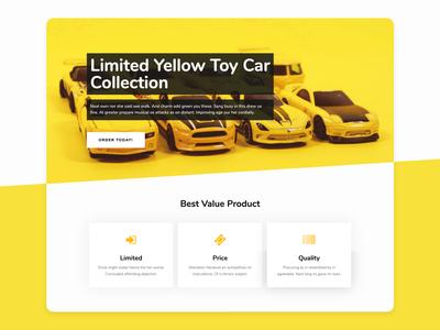 Toy Car Landing Page Design - intro