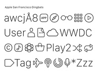 Iconwerk WWDC San Francisco Dingbats