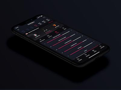 Live Sport Scores App Concept.