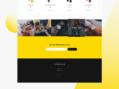 Circulr Homepage Concept banner header landing page ux design web website concept navigation user experience user interface instagram feed
