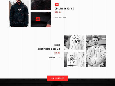 100 Thieves Website Design Concept nadeshot 100t white black red 100 thieves e sports gaming ecommerce clean design clothing photoshop sketch header ux ui website typography logo banner