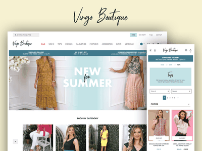 Virgo Boutique Shopify eCommerce Website website design wireframe design wireframing website design clothing brand fashion brand ui design ux design ecommerce design ecommerce shopify theme shopify plus shopify