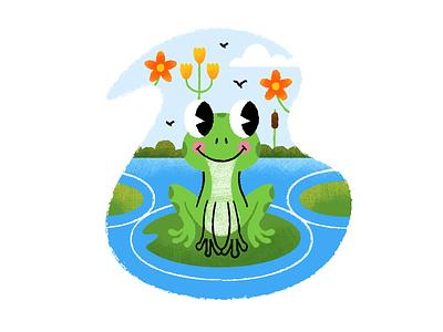 Froggy texture flat  design design colored illustration dribbble adobeillustrator vector artwork art
