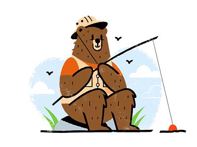 Fishing texture flat  design design colored illustration dribbble adobeillustrator vector artwork art