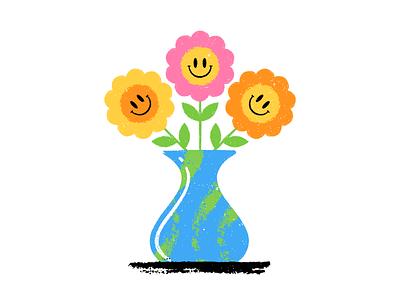 Flower Vase texture flat  design design colored illustration dribbble adobeillustrator vector artwork art