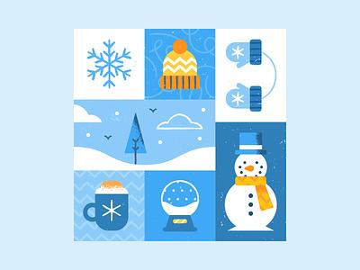 Winter Pattern texture flat  design winter pattern design colored illustration dribbble adobeillustrator vector artwork art