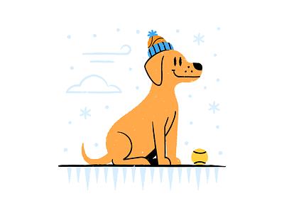 Winter Dog brushes texture design colored illustration dribbble adobeillustrator vector artwork art