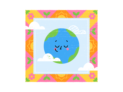 Spring Earth brushes texture design colored illustration dribbble adobeillustrator vector artwork art