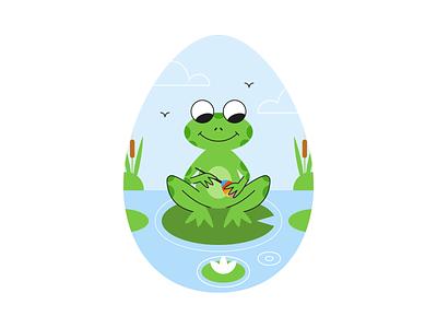 Happy Easter adobephotoshop flat  design design colored illustration dribbble adobeillustrator vector artwork art