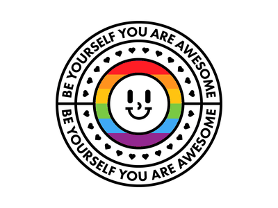 Be yourself! ❤️ grid outline design colored illustration dribbble adobeillustrator vector artwork art