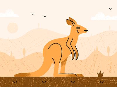 Kangaroo procreate design illustration dribbble adobeillustrator vector artwork art