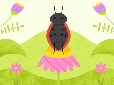 Ladybug 🐞 procreate design illustration dribbble artwork art