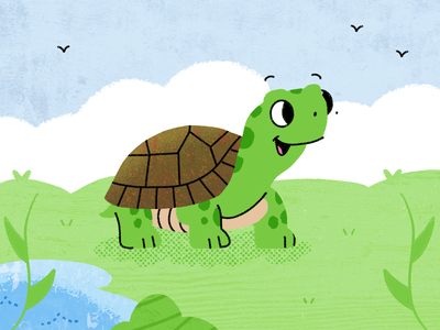Turtle 🐢 retrosupply brushes procreate illustration dribbble artwork art