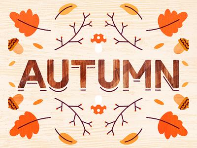 Autumn 🍁 autumn procreate design illustration dribbble artwork art