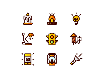 Sources of Light Icons