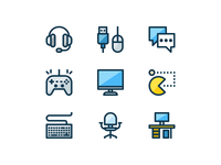 Colored Gaming Icons