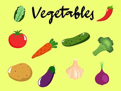 Icon Vegetables logo design illustration illustrasion wallpaper vector tracing art graphic design animation
