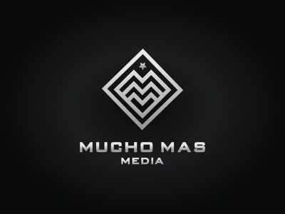 Mucho mas media media logo movie logo m monogram