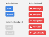 Action buttons for CMS