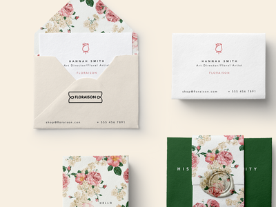 Floraison | Florist Brand Identity feminine stationary design package design nature stationary packaging flowers floral florist