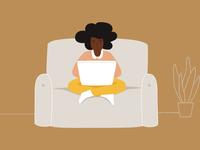 Laptop Lifestyle Illustration