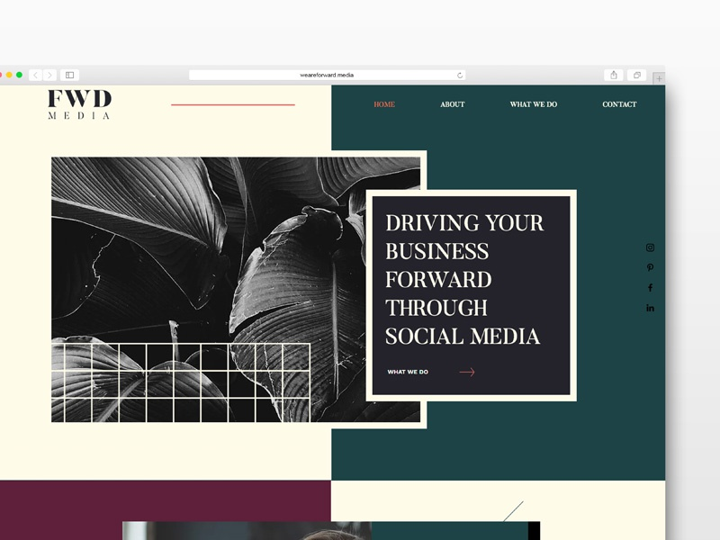 FWD Media Website Design founder female designers women marketing social media web design website user interface