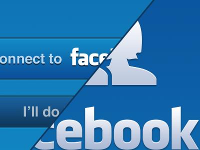 Connect to Facebook facebook blue ios iphone button ui
