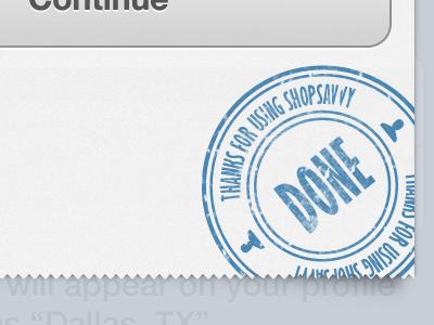 Done Receipt receipt iphone ios stamp paper