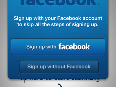 Sign Up With Facebook ios sign up facebook iphone
