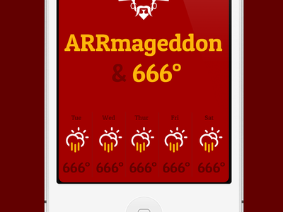 Arrrgh ye Matey's! iphone app conditions weather pirate red minimal simple rain hell ios