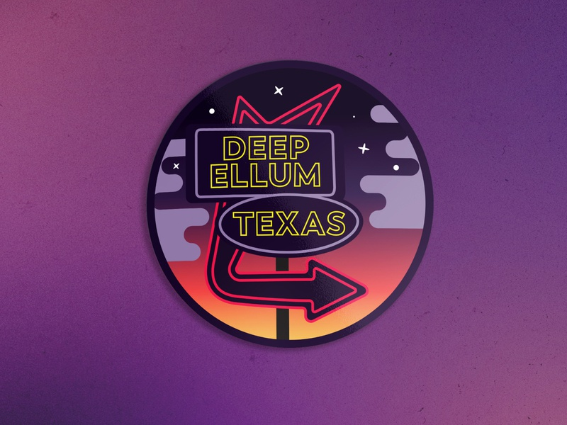 Deep Ellum sticker