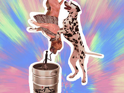 Big Bend Brewing Company Tap Takeover 60s psychedelic keg big bend craft beer cool party dogs beer photo manipulation