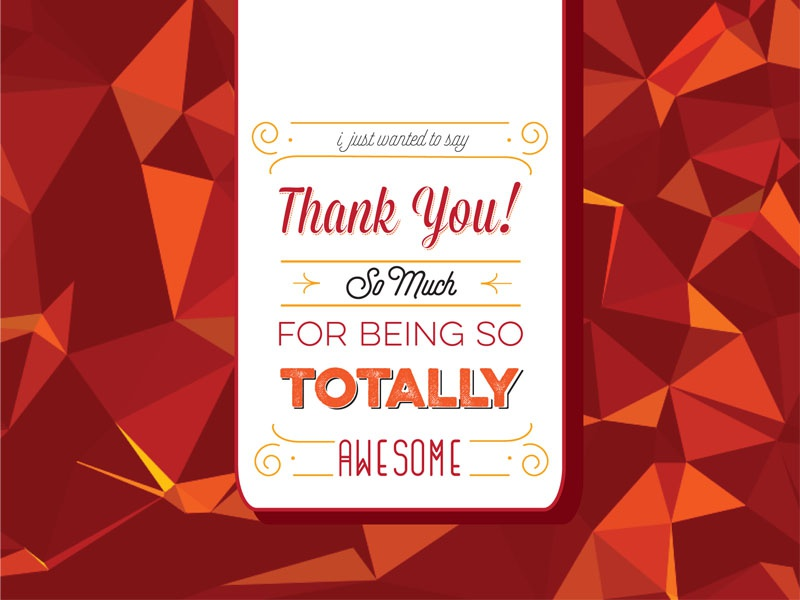 Thank You! red card type typography abstract geometric ty thank you thanks thank you card