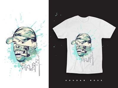 Illustration for Tshirt logo ux ui branding typography design print vector illustration graphic design