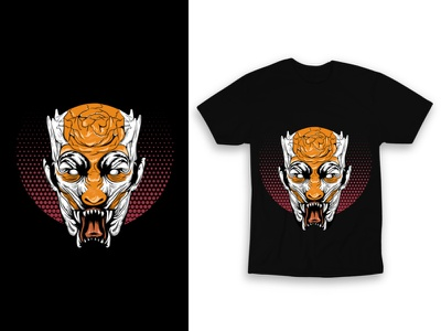 Illustration for Tshirt ui ux logo print branding typography design vector illustration graphic design