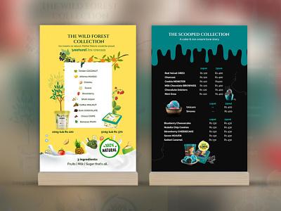 Ice Cream menu Design ux ui logo branding typography design print vector illustration graphic design
