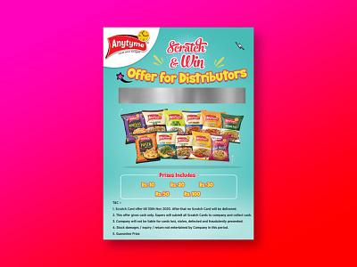 Snack Poster Design ux ui logo branding typography design print vector illustration graphic design